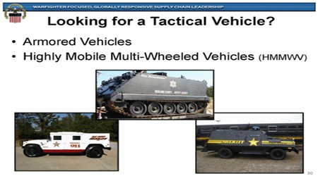 Screen grab from Defense Logistics Agency
