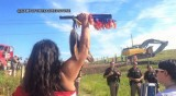 Native American protest stops work at Dakota Access Pipeline site