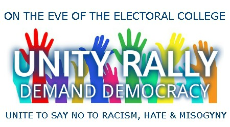 unity rally logo with titles and demand
