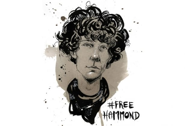 Portrait of Jeremy Hammond by Molly Crabapple.   (Molly Crabapple)