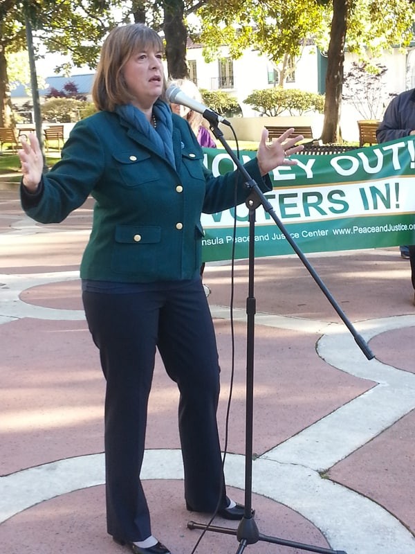 Former Assemblywoman Sally Lieber gave the keynote for the rally.