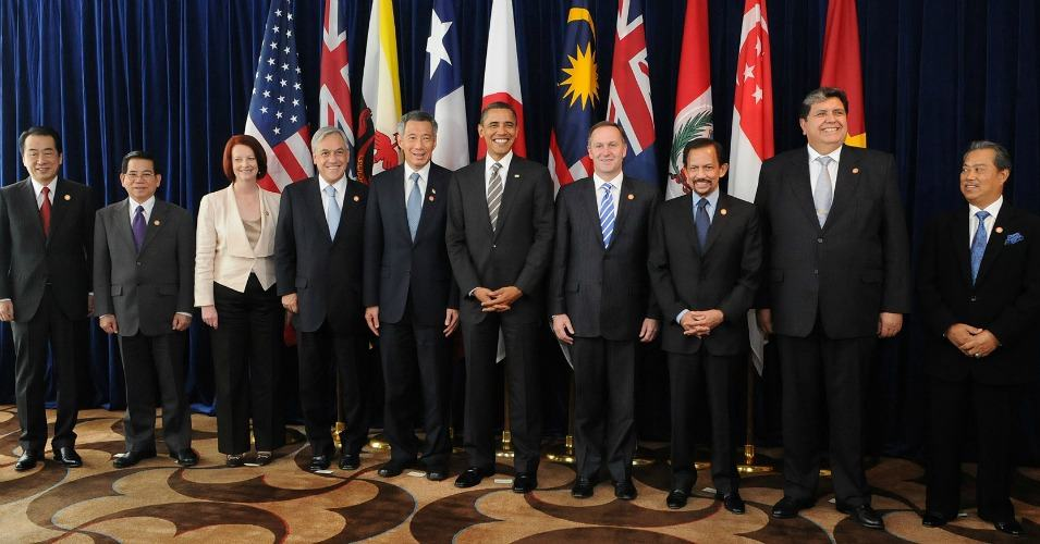 Leaders of TPP member states and prospective member states at a TPP summit in 2010. (Photo: Wikimedia Commons)