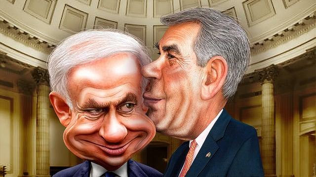Boehner Giving Bibi Kissy Face (DonkeyHotey flickr/cc)