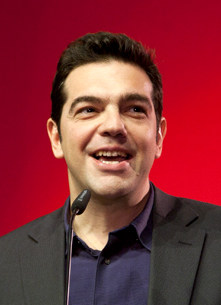 """(Photo: """"Alexis Tsipras die 16 Ianuarii 2012"""" by Die Linke)"""