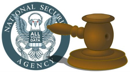 Credits: NSA Logo - eff.org / Gavel - pixabay.com