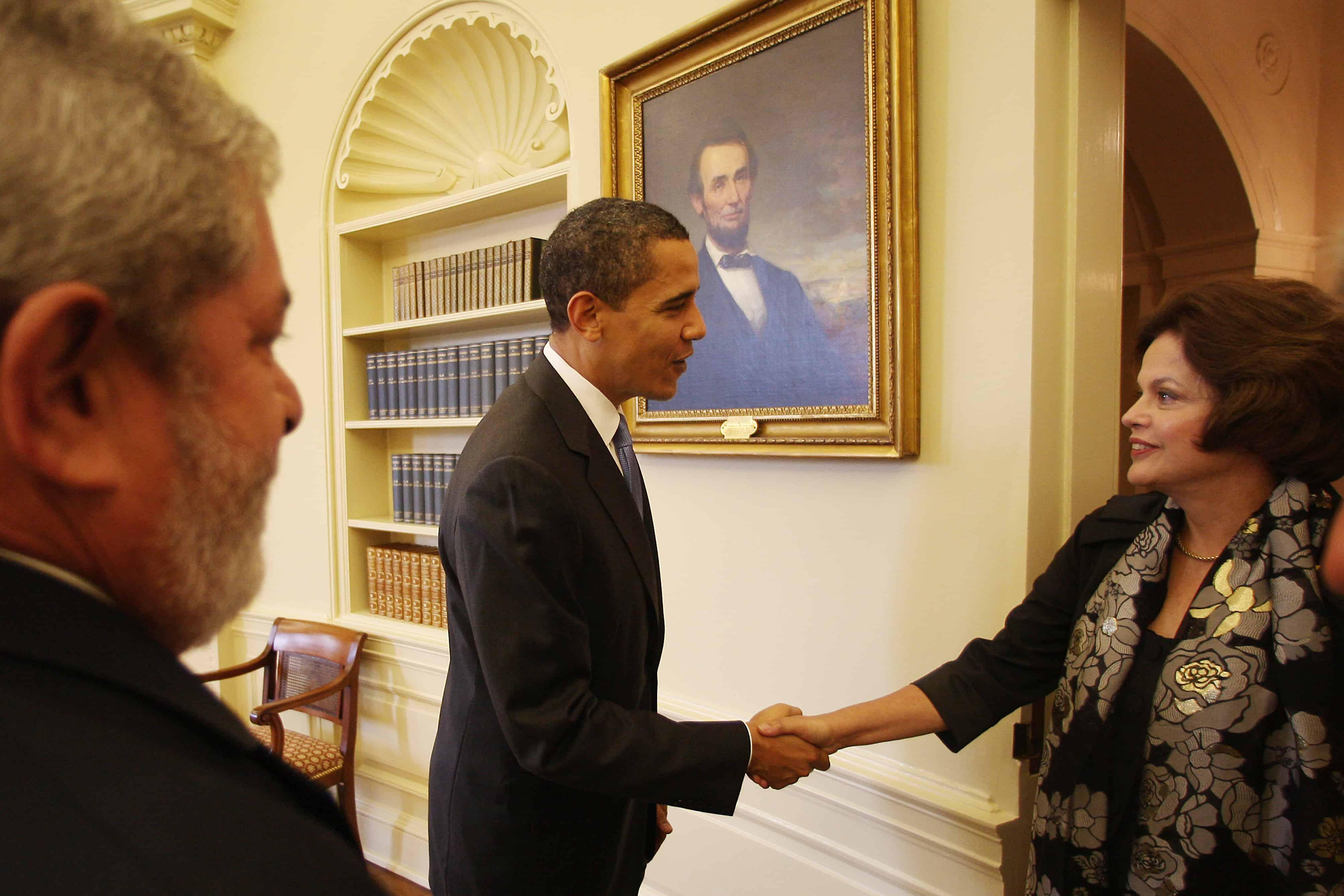 Dilma Rousseff and Barack Obama at the White House, 2009.  (Photo: Ricardo Stuckert/PR - Agência Brasil)