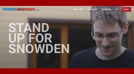 Photo: Screen capture from pardonsnowden.org/