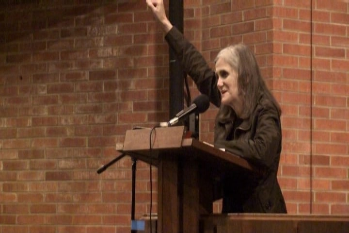 Amy Goodman at a PPJC event.