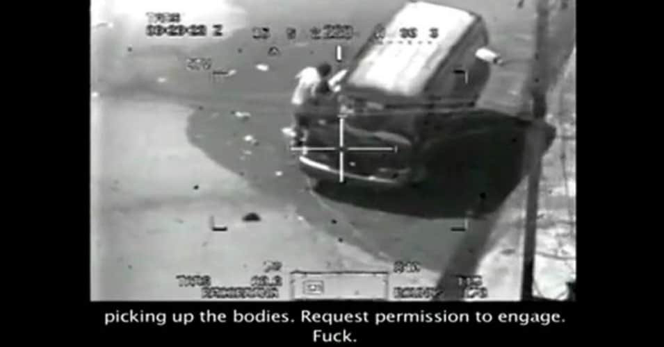 "Screenshot from the video ""Collateral Murder"".  (Wikileaks)"